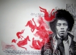 Jimi Hendrix - Red