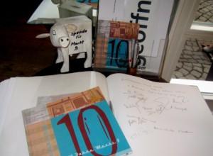 """""""10 Jahre Markt 9"""" Gästebuch Kunstverein"""