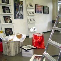 Hängen der Ausstellung im SPEKTRUM