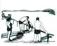Ins Wasser marsch - Zeichnen in einem Strich ...