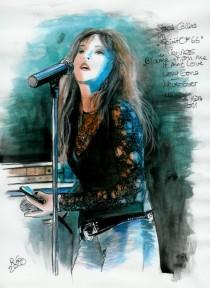 """Zeichnung Stacie Collins im """"Spirit Of 66"""""""