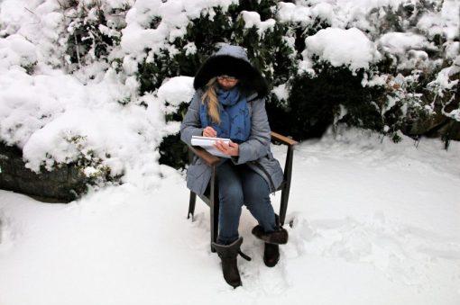 Malen im Schnee