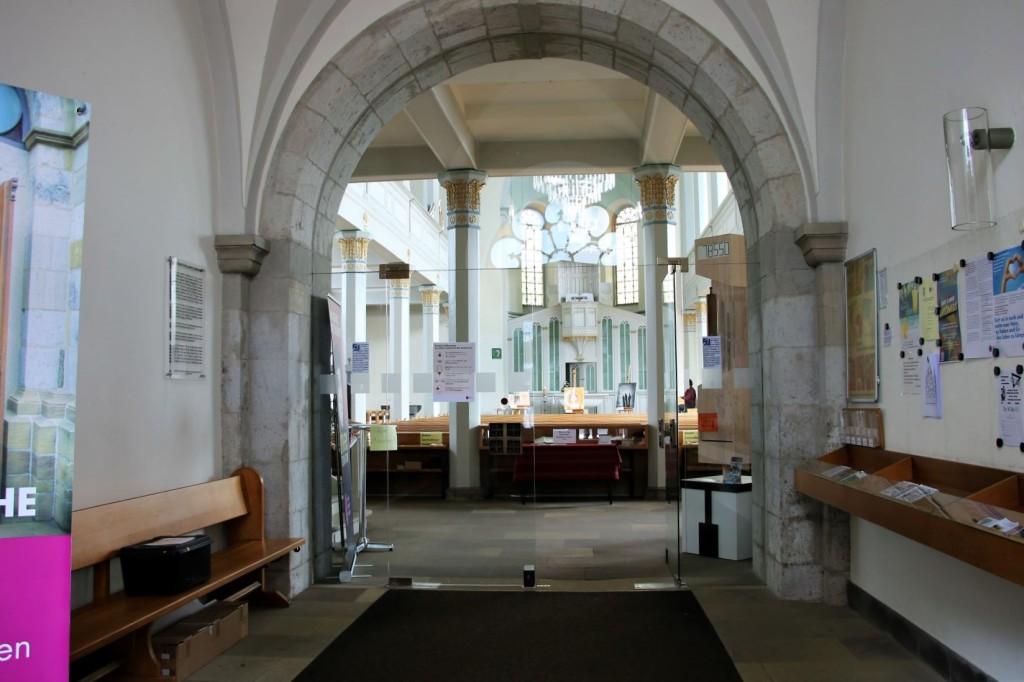Eingang ev. Stadtkirche Wermelskirchen