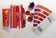 Eine kleine Auswahl meiner Farben Rot- Foto: R. Geisler