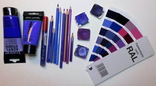 Eine kleine Auswahl meiner blauen Farben - Foto: R. Geisler